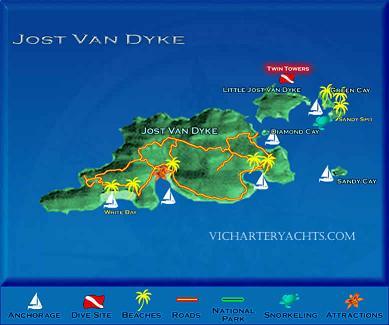 Jost Van Dyke British Virgin Islands Beach Vacation Information