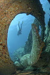 Wreck of the RMS Rhone Dive Site Salt Island BVI